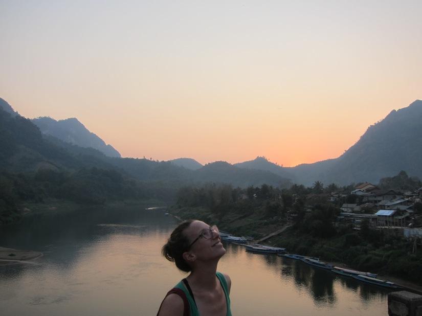 Cycling mountainous Laos