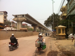 Light-Rail under construction in Hanoi