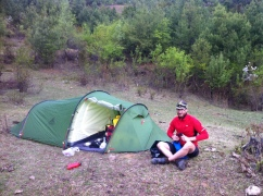 First night camping in China, and finally we have been using all the gear we've been carrying around for months