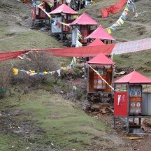 Water turbine driving the prayer wheel...this allows the Tibetans to concentrate on more important matters while not neglecting their religious duties. Spiritual efficiency!