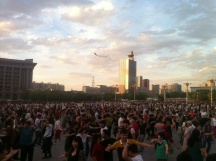 Friday night dancing, Urumqi